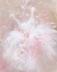 로즈 투투 꽃다발 캔버스 인쇄