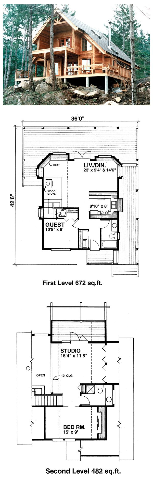 16 best cabin house plans images on pinterest cabin house plans cool house plan id chp 23930 total living area 1154 sq ft