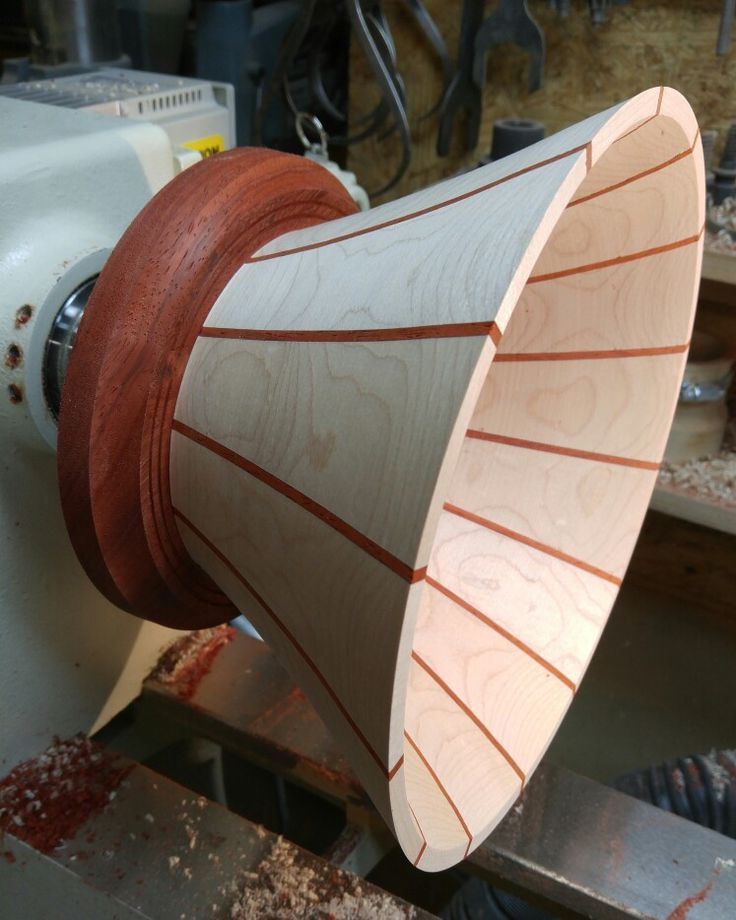 Started one of my stave segmented bowls. #stavebowl #woodturning