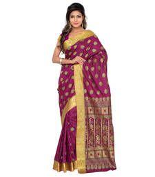 Buy Eid Special Pink art silk printed saree with blouse kanchipuram-silk-saree online