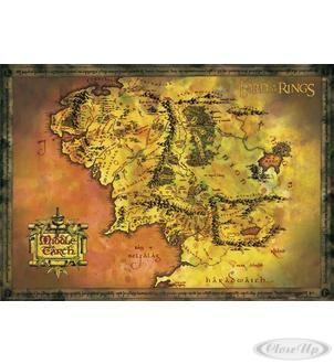 Herr der Ringe Poster Karte von Mittelerde Hier bei www.closeup.de