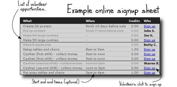 This website is where volunteer coordinators can quickly create a - how to create a sign up sheet