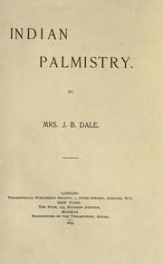 Indian palmistry : Dale, J. B., Mrs : Free Download & Streaming : Internet Archive