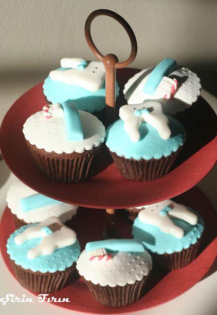 Diş Buğdayı Cupcakeleri, tooth fairy cupcakes, first tooth celebration cupcakes, butik cupcake