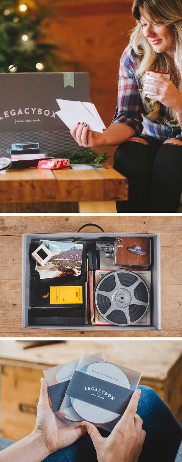 The unique Christmas gift she'll love. Legacybox is an all-in-one mailed kit to have your recorded moments - home movies, film, pictures and audio - converted to dvd & digital. Give the gift of memories this holiday season, gift a Legacybox today.