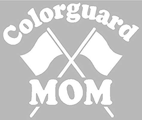 Amazonsmile Sassy Stickers Colorguard Mom Parade Flag Band White