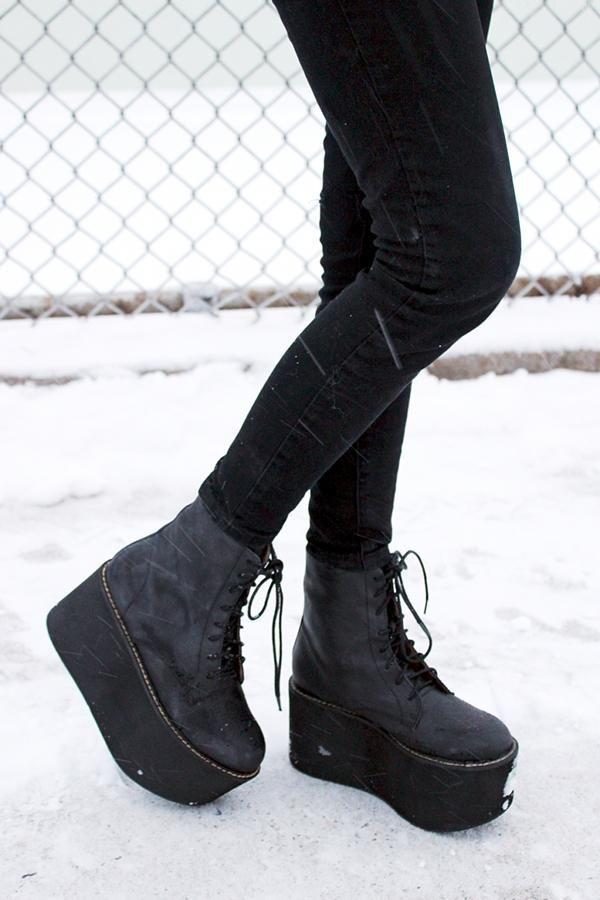 Nasty Gal x Jeffrey Campbell Riot Platform Boot