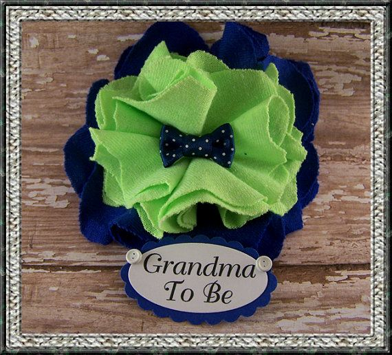 Bow Tie Grandma To Be Corsage or Daddy To Be by BloomingParty