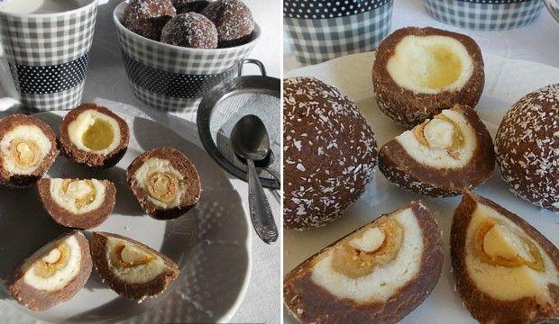 Nepečené cukroví: Trojvrstvé kokosové kuličky s oříškem