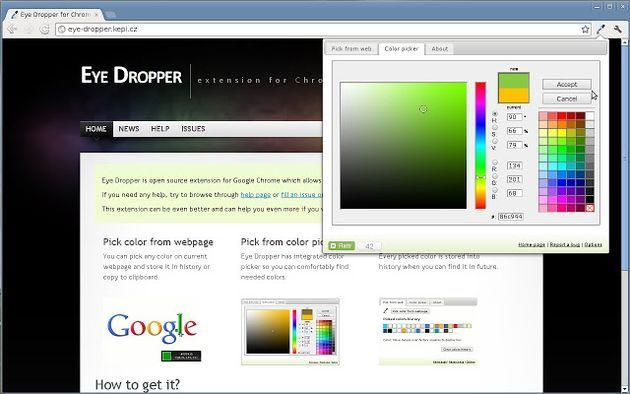 Eye dropper, conoce el código hexadecimal de cualquier color con esta extensión para Chrome