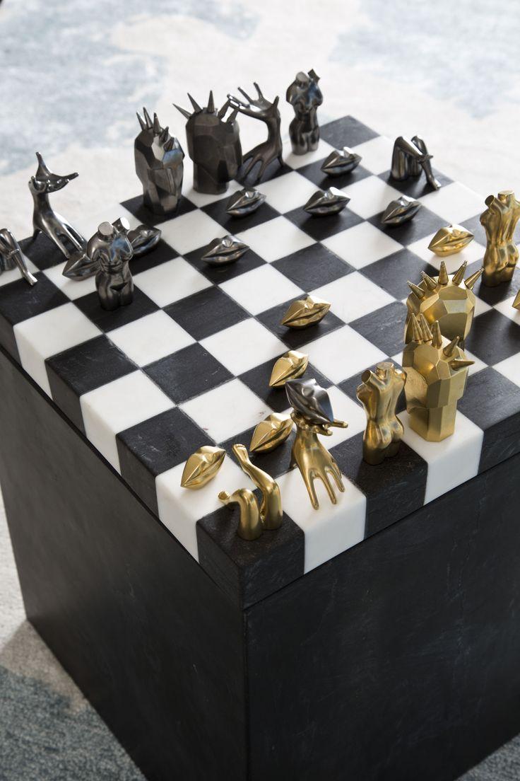 Dichotomy Chess Set $17,000 Kelly Wearstler