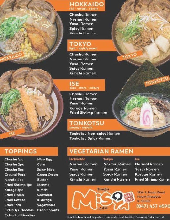 Ramen Menu Food Menu Asian Recipes Food