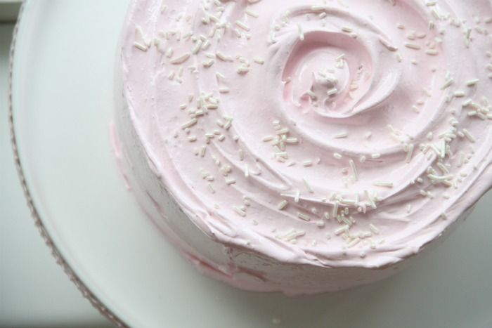 Pretty in Pink Old-Fashioned Cake