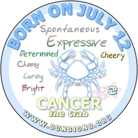 Happy Birthday!!! July 12 Birthday Horoscope Personality   Sun Signs