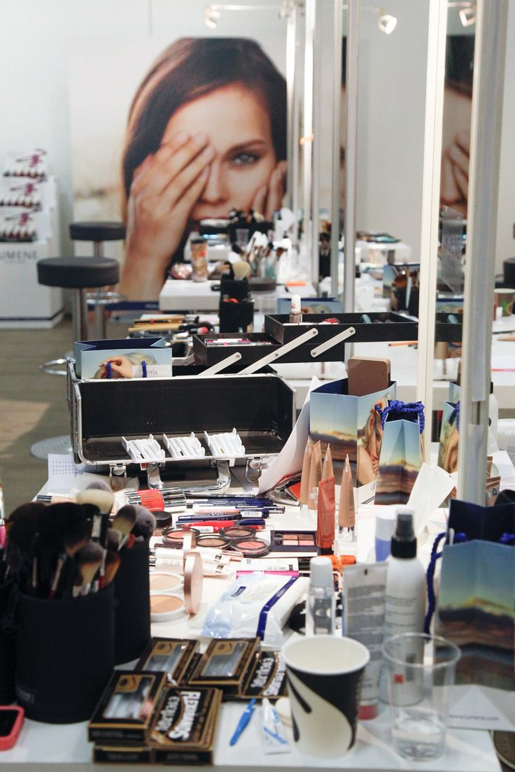 Behind the scenes @ Elle Style Awards 2014. All the fashion show make-ups were created by Lumene. #behindthescenes #lumene