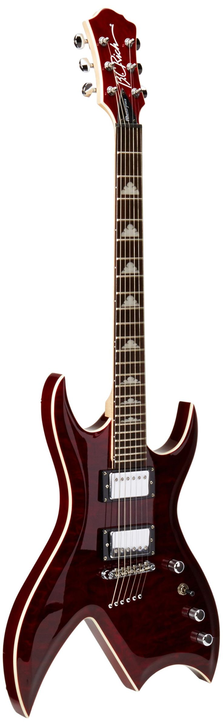 B.C. Rich Masterpiece Bich Electric Guitar Dragon'S Blood. Agathis Body Bolt-on Construction Rosewood Fingerboard Classic BCR Headstock.