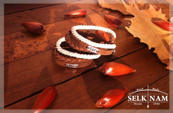 """La hermosa Pulsera """"'Almendra"""" personalizada por nuestros clientes <3 Encuéntranos en Facebook SelkNam handmade"""