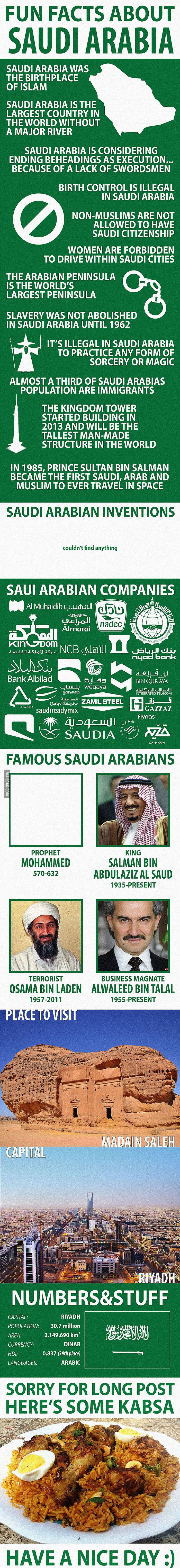Fun Facts about Saudi Arabia