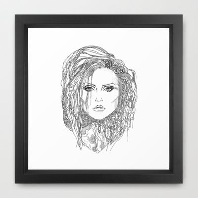 Deborah (Debbie) Harry of Blondie Framed Art Print by Francesco Carli - $34.00