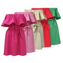 Vestido sin mangas ocasional, marca vestidos Sexy mujeres Falbala hombro correas cruzadas vestidos del color del caramelo(China (Mainland))