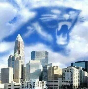 Charlotte Panthers! They're written in the clouds!
