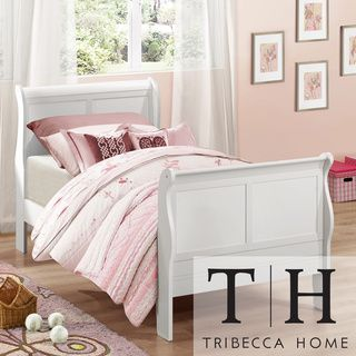 TRIBECCA HOME Canterbury Louis Phillip White Twin-size Sleigh Bed | Overstock.com Shopping - The Best Deals on Kids' Beds