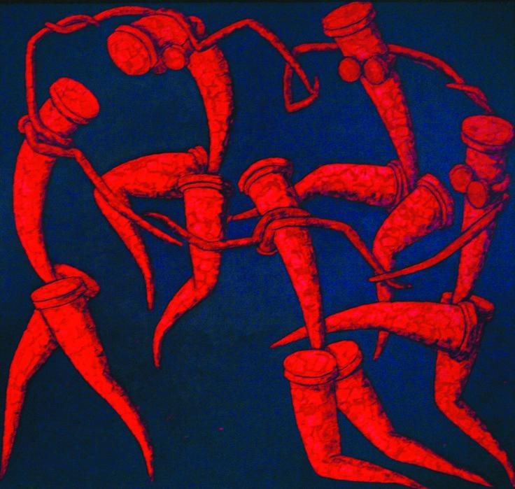 ТАНЕЦ.по to Matisse - Картина ©2015 - DMITRIY TRUBIN -                                                                Абстрактное искусство, Коммерческая деятельность, Знаменитость, Люди, матис, танец картина, танец матисса, картины матисса, анри матисс, танец картина матисса, художники, франция, французский художник, фовист, фовизм, художник фовист