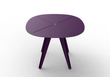 TABLE ALUMINIUM LOO CARREE (75x100x100) - Votre sélection dans la collection LOO sur MatiereGrise Decoration
