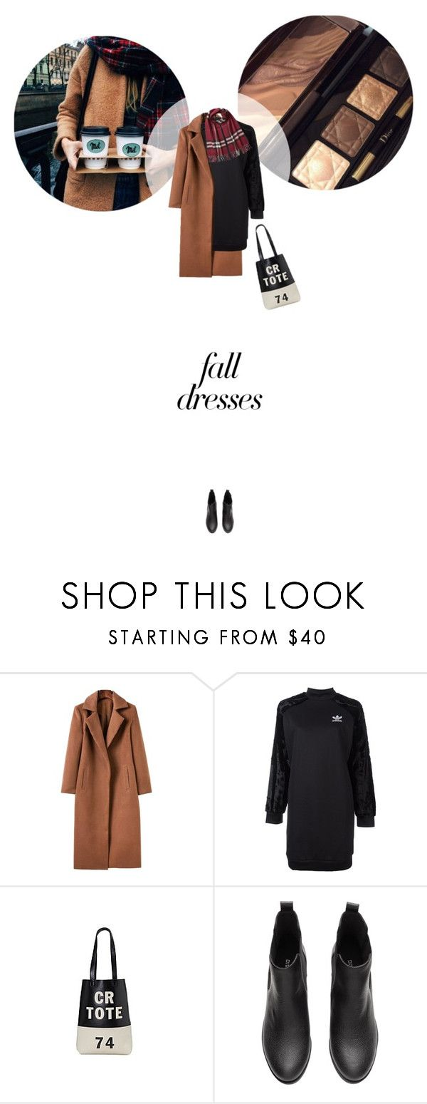// 1316. Fall Fashion: Dresses. by lilymcenvy on Polyvore featuring adidas Originals, Burberry and falldresses