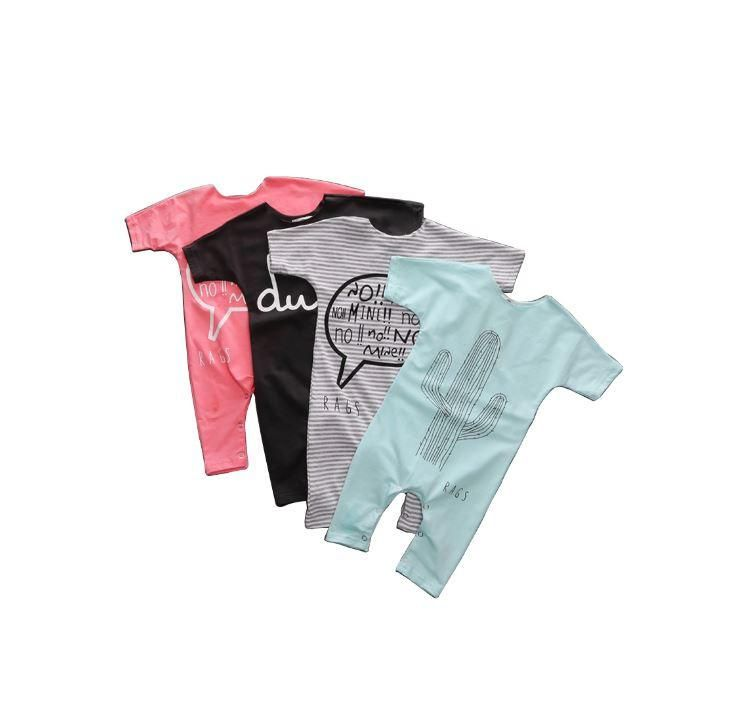 Comfy Letter Print Rompers  #babyshop #babies #infant #babyclothes #instakids #instababy #momblogger #baby #mommytobe #ShopDLA