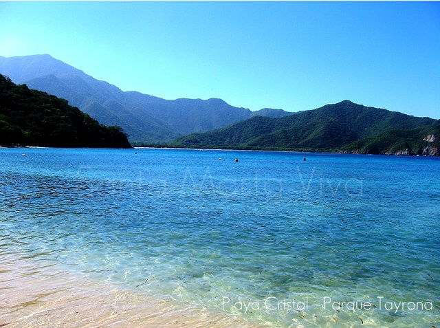 Playa Cristal - hermosa playa (Santa Marta - Colombia) #photo #travel