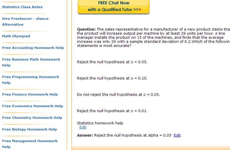 Help in statistics homework