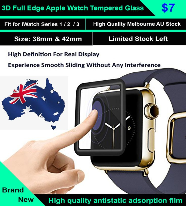 3D Full Edge Apple Watch Tempered Glass Screen Protector 38mm 42mm iWatch  High Hardness Glass material after high tempered steel processing, surface hardness up to 8-9 h, impact resistance is strong, not easy scratches.
