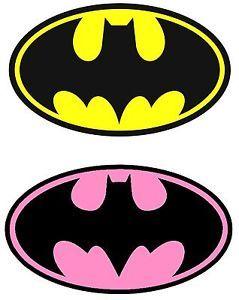 Batman-Yellow-Batgirl-Pink-Iron-On-Transfer-for-LIGHT-Fabric-4-5-x-7-5