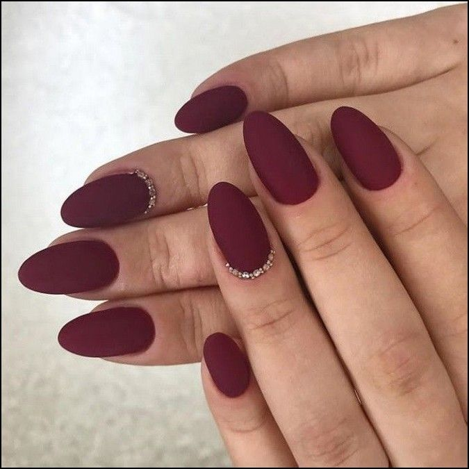 100 Cool And Classy Prom Nail Art Designs For Glamorous Look 2019 Page 10 Producttall Com Maroon Nails Almond Acrylic Nails Nails