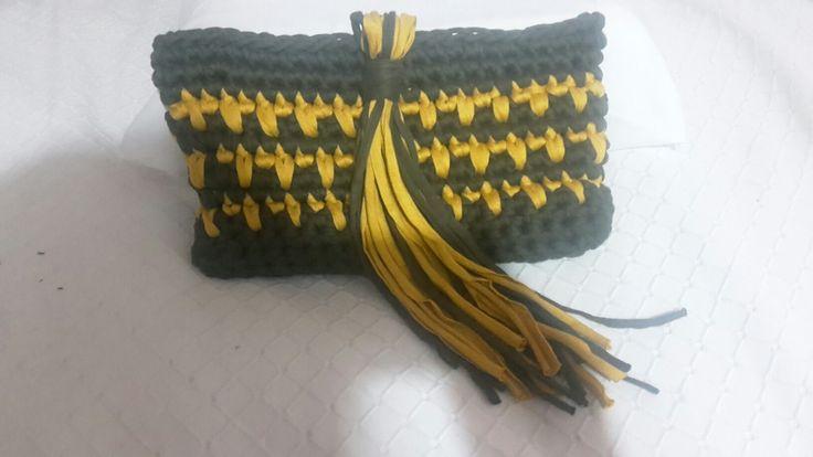 Clutch! Trapillo...crochet!