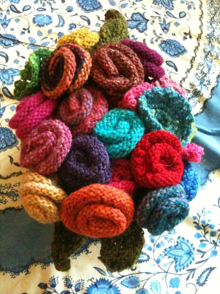 Flower Tea cosy from Really Wild Tea Cosies by Loani Prior. Made in Noro for Pip's 50th. A hit.