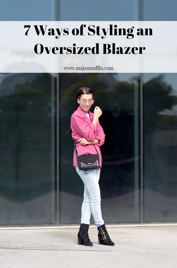 7 Ways of Styling an Oversized Blazer + Shop The Trend (Under $75) | Maja's Muffin- a fashion blog on a budget | Fall fashion ideas | Styling tips- oversized blazers- trend