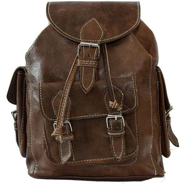 Leather Backpacks | Leather Rucksacks | Festival Bags ($150) ❤ liked on Polyvore featuring bags, backpacks, backpack, satchel handbags, retro backpack, leather backpack, travel backpack and leather satchel
