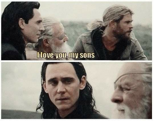 This part broke my heart. Loki finally saw his acceptance from Odin just to lose him in a minute