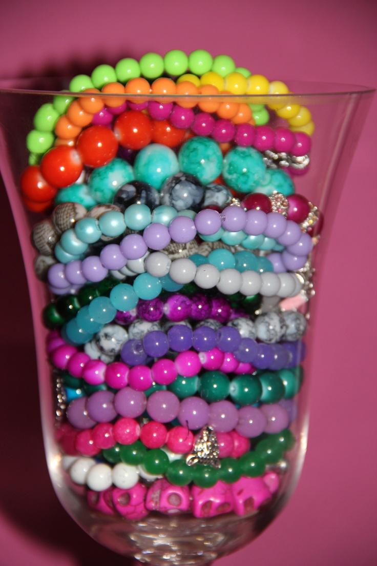 Cute Rainbow bracelets. I love it !