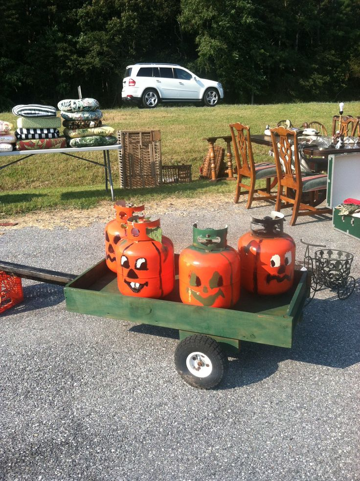"""Pumpkin Patch Kids Propane Tank"" Idea and design by Dean Ford of Original Eastern Shore Pickers."