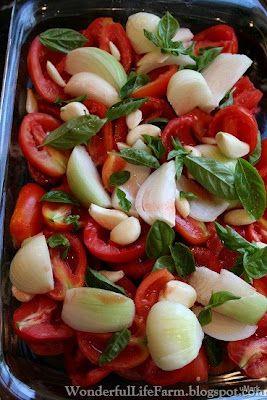 Wonderful Life Farm: Easy Homemade Spaghetti Sauce from Homegrown Tomatoes.