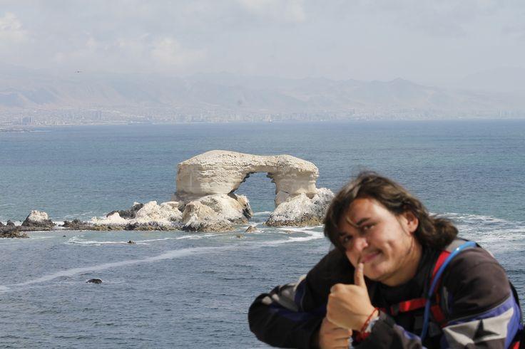La Portada de Antofagasta, recorriendo en moto