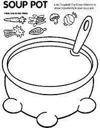 Put different ingredients in your soup pot and together you can retell and sing the wombat stew song.