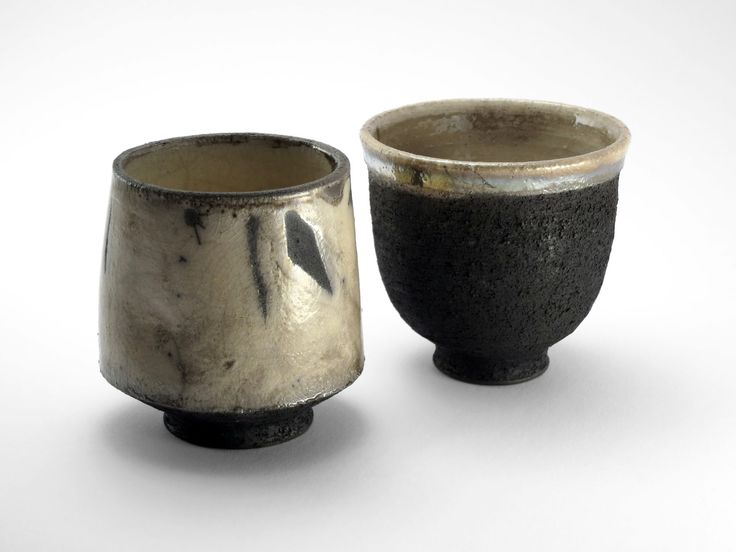 Japanese Style Tea Bowl Couple - Ildikó Károlyi #ceramics #raku #design