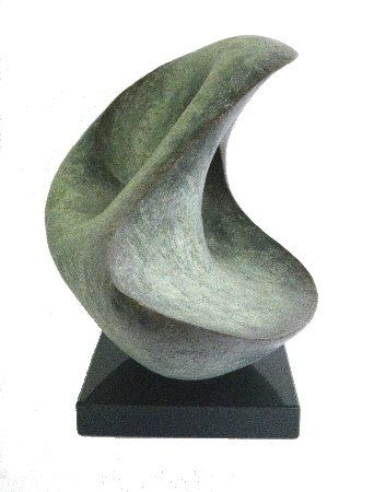 Lynn Warren contemporary, abstract bronze & resin sculpture
