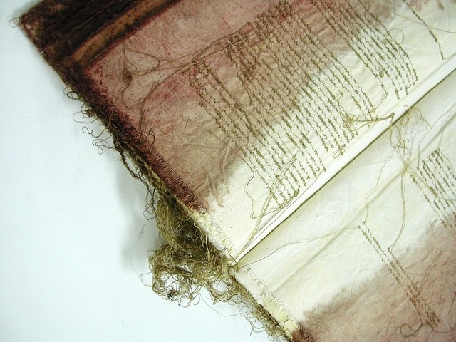 Ulassai, Italy (embroidered book by sardinian artist maria lai) - a photo by Malina