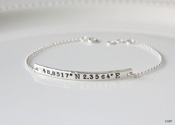 This is a beautiful GPS decimal degrees bracelet in your choice of latitude and longitude coordinates. Please leave your coordinates the way