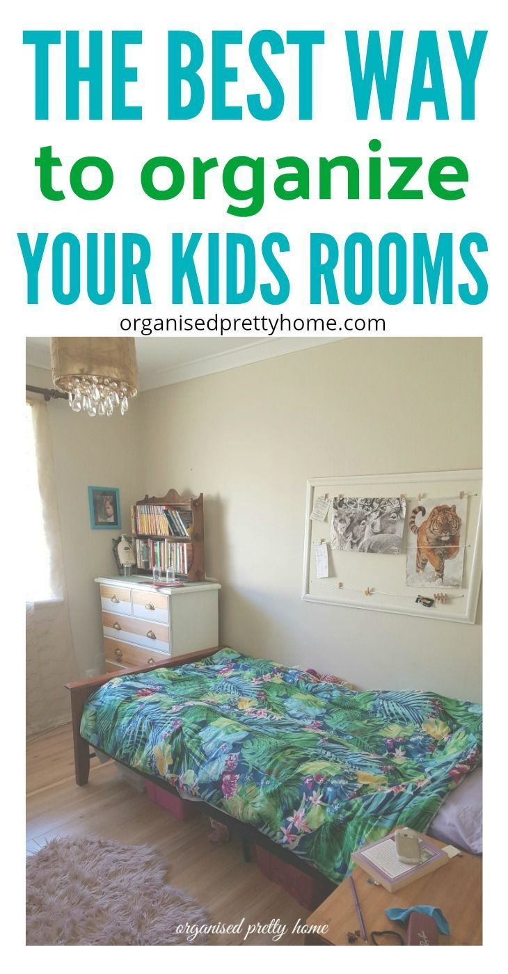 Find out how I am teaching my kids to be organized in their bedrooms.  Check out 5 best tips to organise kids rooms. - Organised Pretty Home declutter | storage | small | closet | how to | child | toys | boys | girls #kidsrooms #declutter #organizedhome #